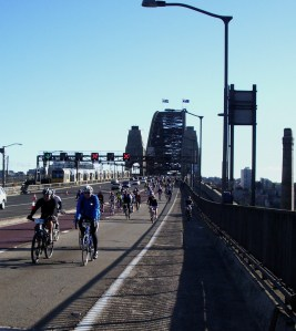 005 crossing the Harbour Bridge