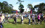 congregating at the start line