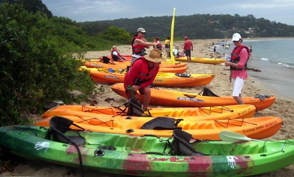 picking our kayak
