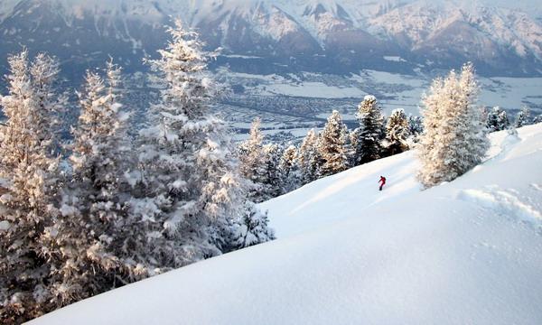 skiing at Igls Austria