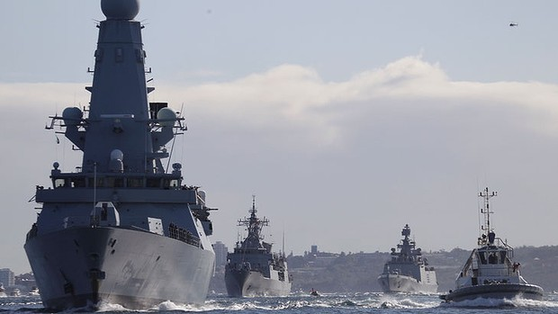 WAR SHIPS ARRIVE IN SYDNEY
