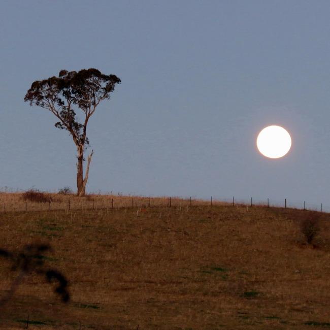 sun set lets the moon arrive